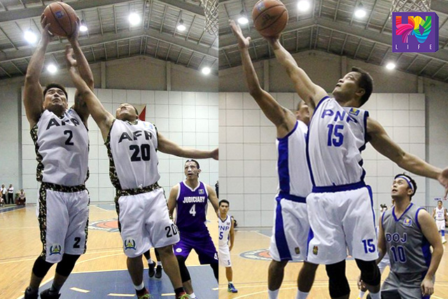 AFP and PNP's aggressiveness in offense and defense are keys to their unblemished record in UNTV Cup Season 4 so far. (RODEL LUMIARES / Photoville International)