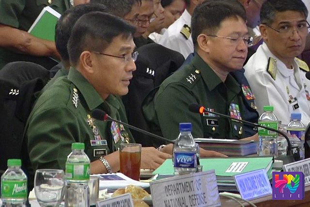 AFP Chief of Staff Major General Hernando Iriberri during the deliberation on the proposed budget for the AFP. (UNTV News)