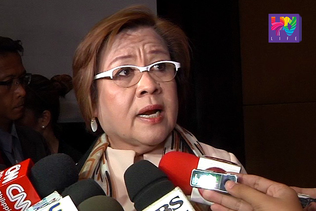 FILE PHOTO: DOJ Sec. Leila De Lima (UNTV News)