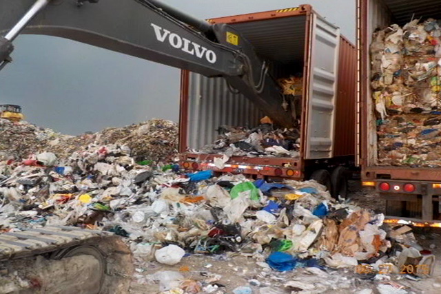 FILE PHOTO: Some of the container vans from Canada (Senate Photos)