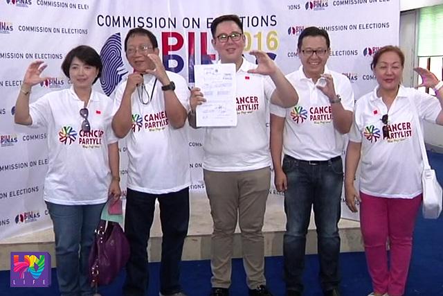 Isa sa mga nag-file ng COC sa unang araw para sa partylist ay ang Cancer Party-list.