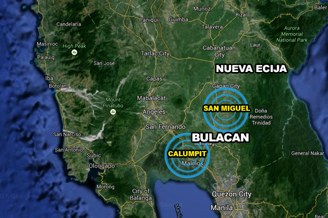 Google Map:  Calumpit and San Miguel, Bulacan