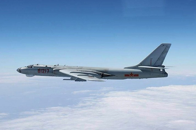 A Chinese H6 bomber. Photo: Reuters/file