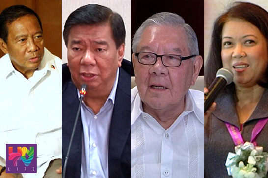 FILE PHOTOS: (L-R) Vice President Jejomar Binay, Senate President Franklin Drilon, House Speaker Feliciano Belmonte Jr. and Chief Justice Maria Lourdes Sereno (UNTV News)