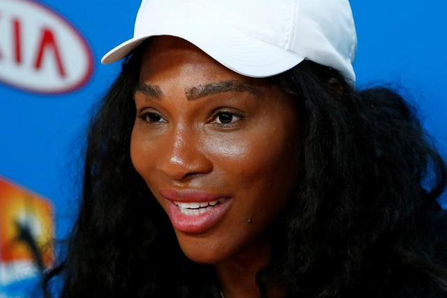 champion serena brushes off australia open injury concerns. Black Bedroom Furniture Sets. Home Design Ideas