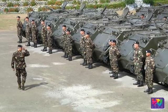 Bahagi ng turnover ceremony ng 114 units ng M113A2 APC para sa Philippine Army.