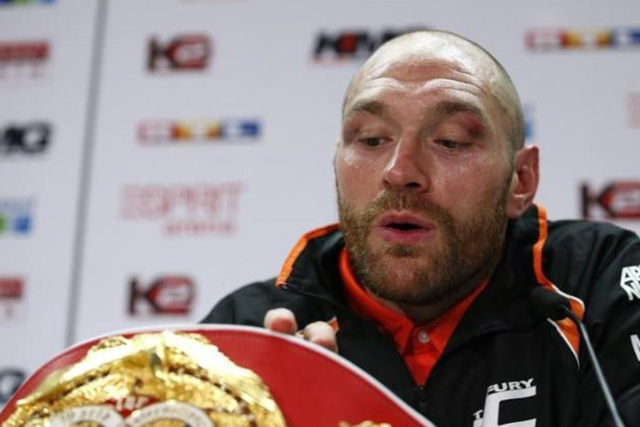 Tyson Fury during a press conference after the fight Action Images via Reuters / Lee Smith