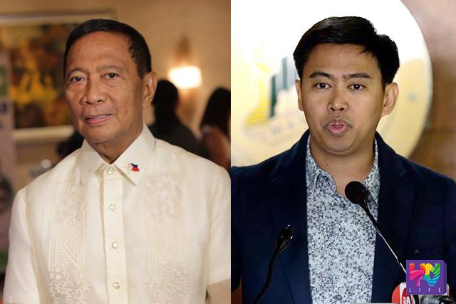 FILE PHOTO: (L-R) Vice President Jejomar Binay; Makati City Mayor Junjun Binay (Willie Sy / Photoville International)
