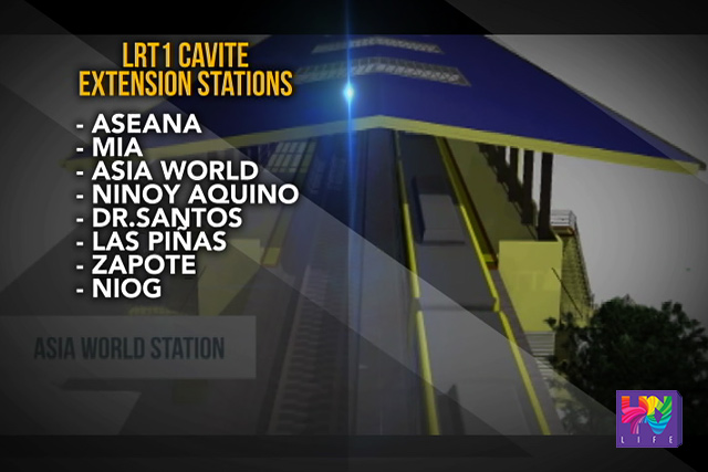 LRT 1 Cavite Extension stations