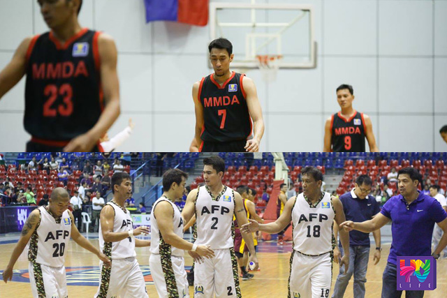 FILE PHOTO: MMDA Blackwolves and AFP Cavaliers (Photoville International)