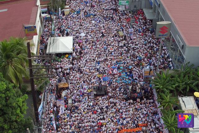 Ang proclamation rally ng UNA sa Mandaluyong City nitong Martes.