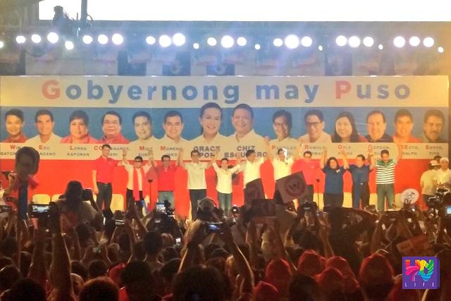 Ang proclamation rally ng Partido ng Galing at Puso sa Plaza Miranda nitong Martes. (GRACE CASIN)
