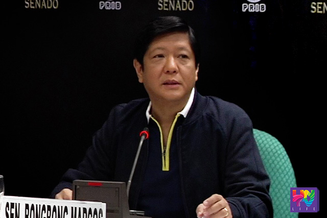 FILE PHOTO: Senator Ferdinand 'Bongbong' Marcos Jr. (UNTV News)
