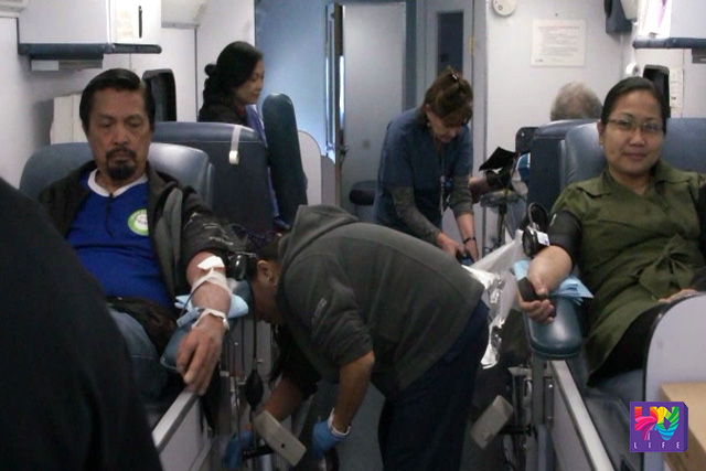 Volunteers from Members Church of God International and UNTV in Los Angeles took time to participate in the mass blood donation as part of the public service advocacy of Bro. Eli Soriano and Mr. Public Service Kuya Daniel Razon.