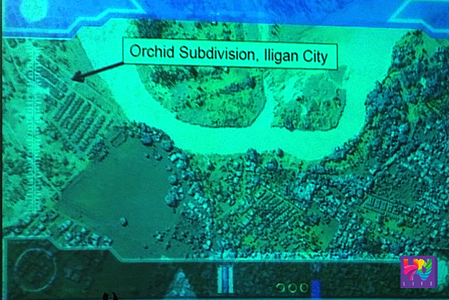 Map visualization of the flood-prone areas using DOST's Light Detection and Ranging System (LIDAR).