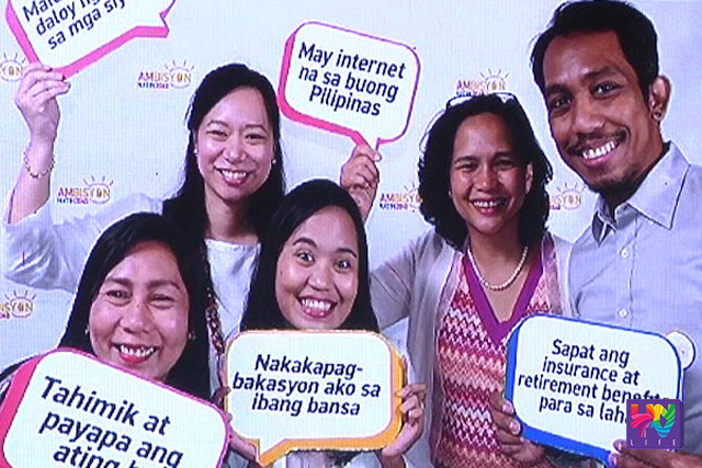 A snapshot on NEDA's 'AmBisyon Natin 2040' video presentation