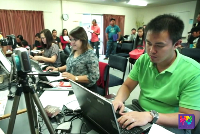 The  Mobile Consular Service's staff of the Philippine Embassy in New Zealand render services to fellow Filipinos.