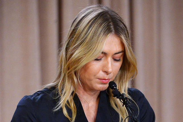 Maria Sharapova speaks to the media announcing a failed drug test after the Australian Open during a press conferencein Los Angeles, Califonia, March 7, 2016. Mandatory Credit: Jayne Kamin-Oncea-USA TODAY Sports