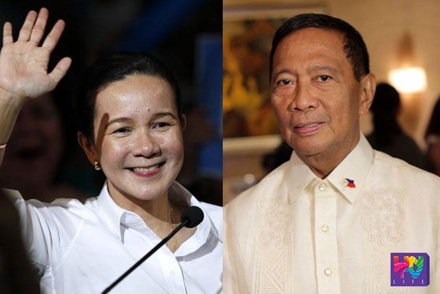 (Left-Right) Senator Grace Poe, Vice President Jejomar Binay. FILE PHOTO. UNTV News
