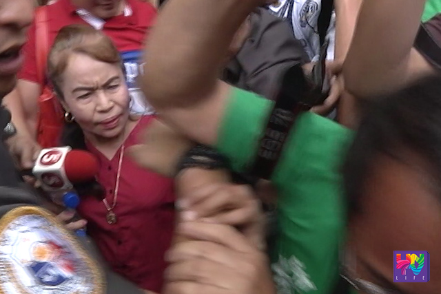 Ang ina ni Congresman Manny Pacquiao na si Dionesia Pacquiao sa pagdalo sa sa pagdinig ng kanyang apela kaugnay sa tax assessment ng BIR Region 18.