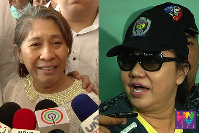 FILE PHOTO: Masbate Governor Rizalina Seachon-Lanete and Janet Lim-Napoles (UNTV News)