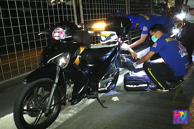 Ang pagresponde ng UNTV News & Rescue Team sa isang motorcycle accident sa EDSA corner Quezon Avenue. (UNTV News)
