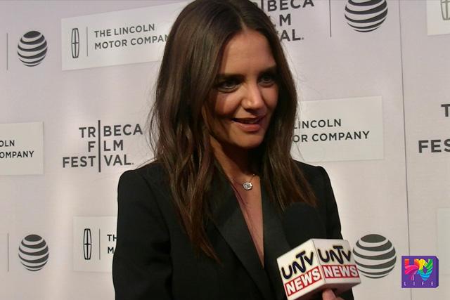 American actress, model and feature film director Katie Holmes sa Tribeca Film Festival na ginanap sa  BMCC Theater. (UNTV News)