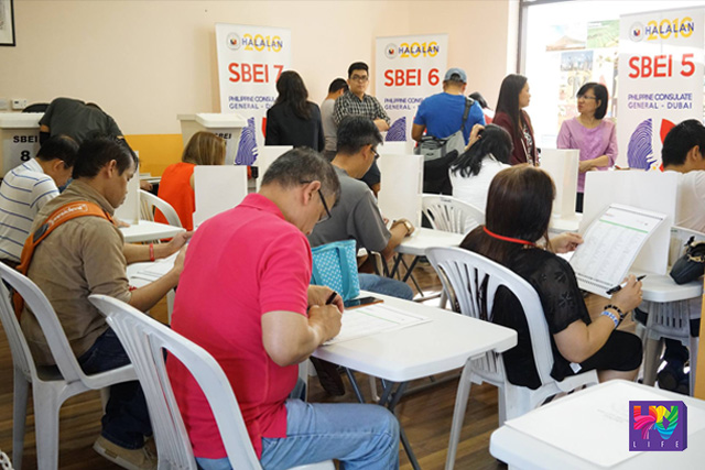 Filipinos in Dubai participate in Philippine elections through overseas absentee voting in Philippine Consulate General. (PHOTOVILLE- UAE)