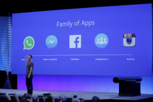 Facebook CEO Mark Zuckerberg speaks on stage during the Facebook F8 conference in San Francisco, California April 12, 2016. REUTERS/Stephen Lam