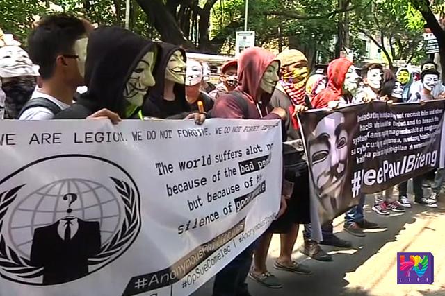Nananawagan sa Department of Justice (DOJ) ang Anonymous Philippines na palayain ang I.T. graduate na si Paul Biteng, isa sa mga suspek sa pag-hack sa website ng Commission on Elections (COMELEC).