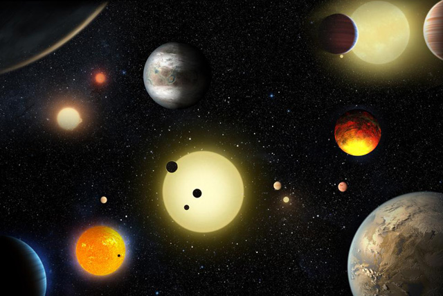 This artist's concept depicts select planetary discoveries made to date by NASA's Kepler space telescope in this image released May 10, 2016. Courtesy W. Stenzel/NASA/Handout via REUTERS