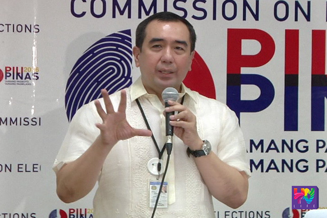 FILE PHOTO: Commission on Elections Chair Atty. Andres Bautista
