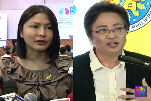 Smartmatic Spokesperson Atty. Karen Jimeno (left) and COMELEC Commissioner Rowena Guanzon (right).