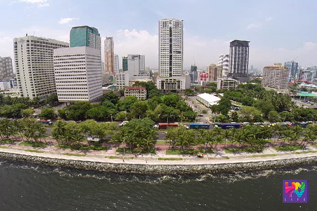 FILE PHOTO: An aerial view of Roxas Boulevard in Pasay City captured via UNTV Drone.