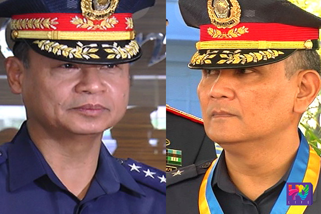 PNP Deputy Chief for Operations PDDG. Danilo Constantino (left) and Chief for Administration PDDG. Marcelo Garbo (right).