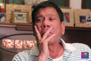 Presumptive president Rodrigo Duterte during his media interview. (CERILO EBRANO/Photoville International)