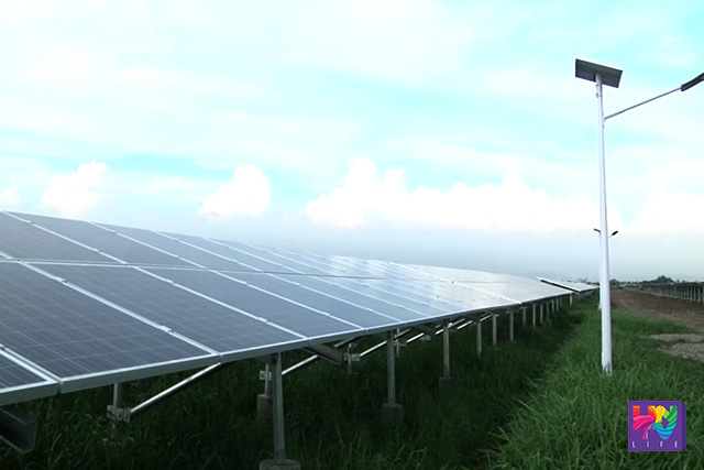 Solar panels installed in a 12-hectare area in Nueva Ecija.