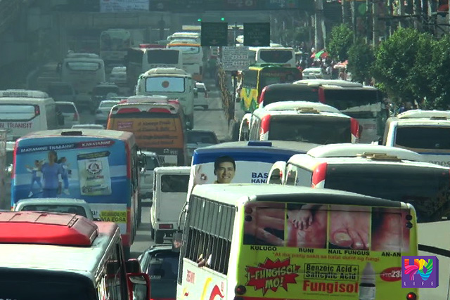 Traffic congestion along EDSA in Metro Manila. (UNTV NEWS)