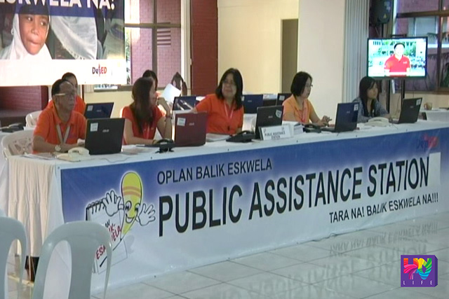 Department of Education's Public Assistance Station is pictured in a photo. (UNTV News)