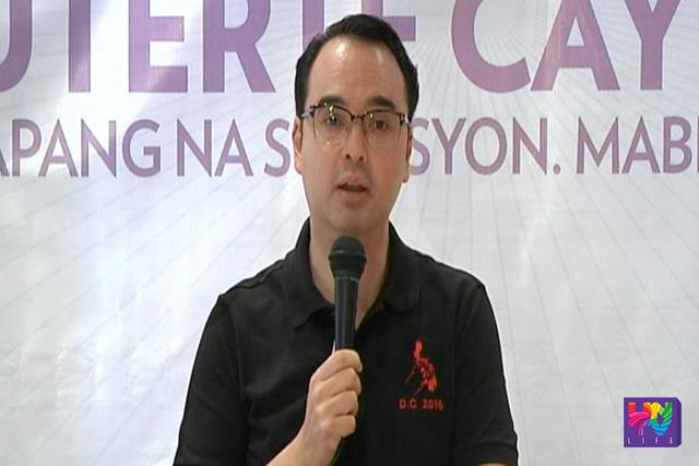 Senator Alan Peter Cayetano delivers his speech. (UNTV News)