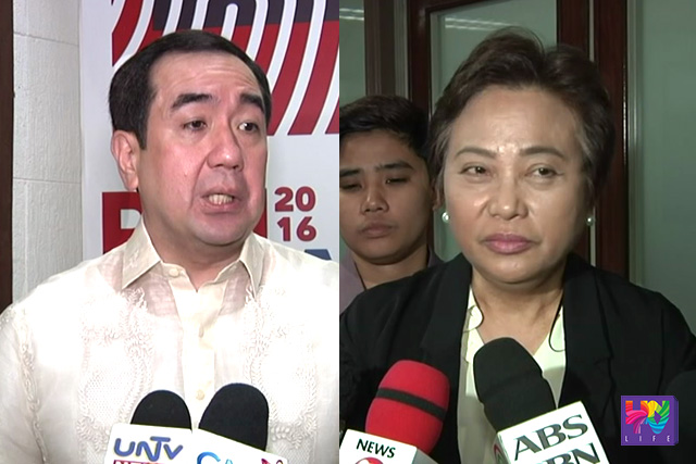 Commission on Elections Chairman Andres Bautista (left) and Commissioner Rowena Guanzon (right). (UNTV News)