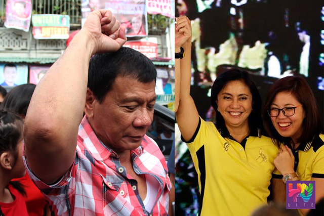 Davao City Mayor Rodrigo Duterte and Camarines Sur 3rd District Representative  Leni Robredo topped the NBOC canvassing for president and vice president posts. (UNTV News)