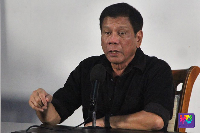 President-elect Rodrigo Duterte talks in a press conference in Davao City. (UNTV NEWS/Cerilo Ebrano - Photoville International)