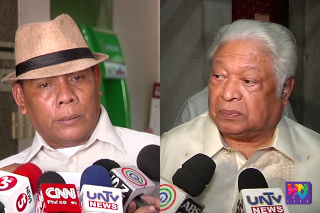 Complainant Hernando Bruce (left0 and Albay representative Edcel Lagman (right). (UNTV NEWS)