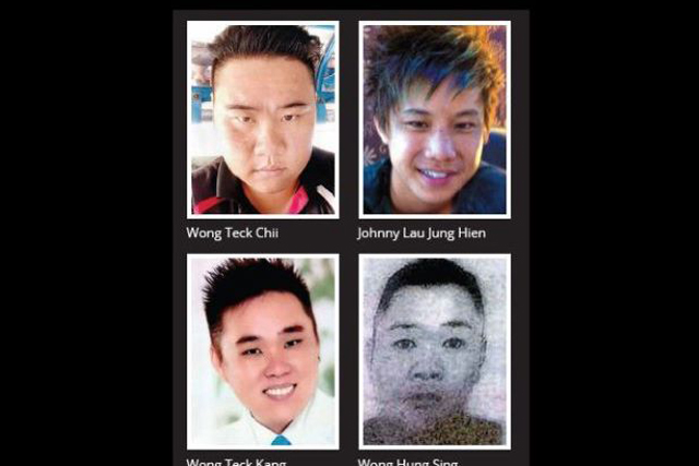 The four Malaysian sailors kidnapped by Abu Sayyaf is seen in a photo. (Photo Courtesy: The Star Online)