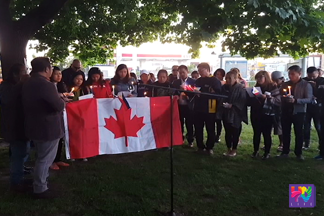 Pinoy patriotic movement staged a prayer vigil in support to Canadian national robert hall and the rest of the victims being held captive by the Abu Sayyaf Group in Toronto, Canada on Thursday, June 9, 2016. (UNTV NEWS)