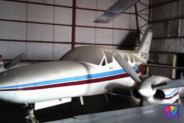 One of the aircraft which is set to auctioned is stalled in a hangar. (UNTV NEWS)
