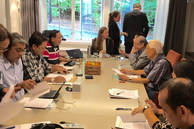 Communist Party of the Philippines, New People's Army, National Democratic Front of the Philippines and the incoming government peace panel during the formal resumption of   peace talks at Oslo, Norway on Tuesday, June 14, 2016. (Photo courtesy: Jesus Dureza's Facebook account.)