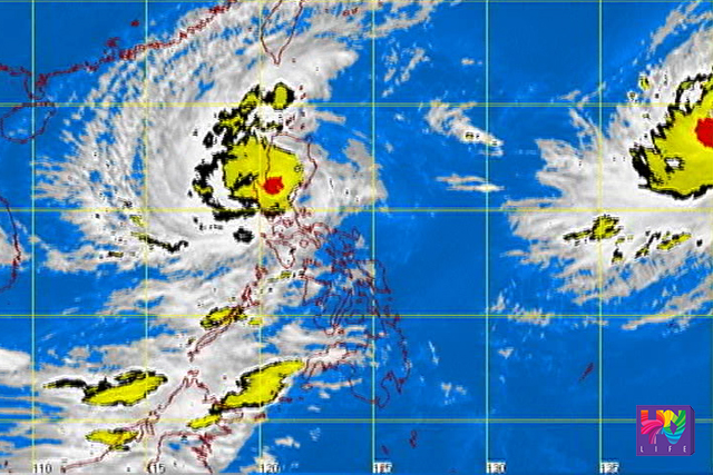 FILE PHOTO: A screengrab of  a satellite image from PAGASA.