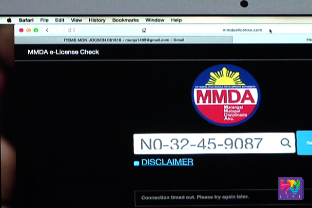 MMDA'S E-license
